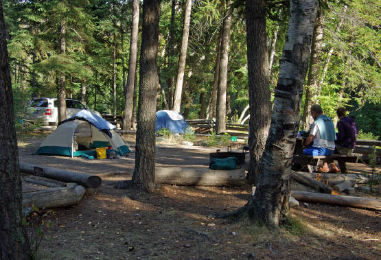 Tent Camp in Glacier Park, Montana